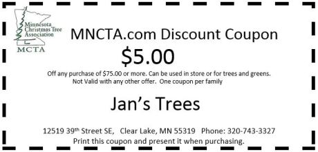 tree types available - Christmas Tree Store Coupon