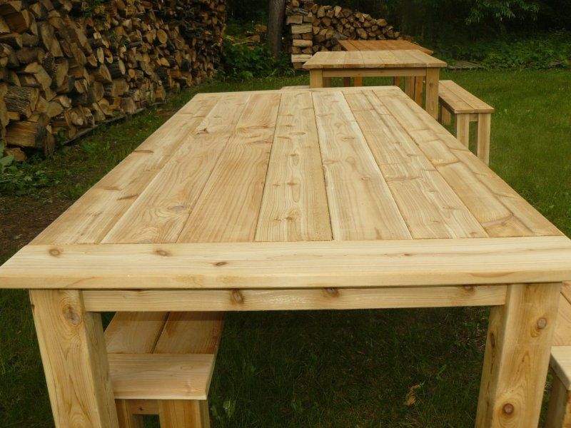 Outdoor Cedar Tables