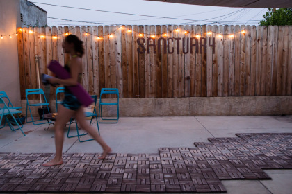 Yoga Sanctuary Patio at Namaste Highland Park