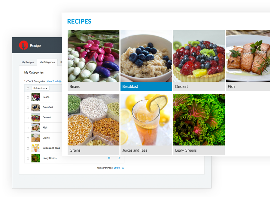 Recipe App on the LiveEdit Platform