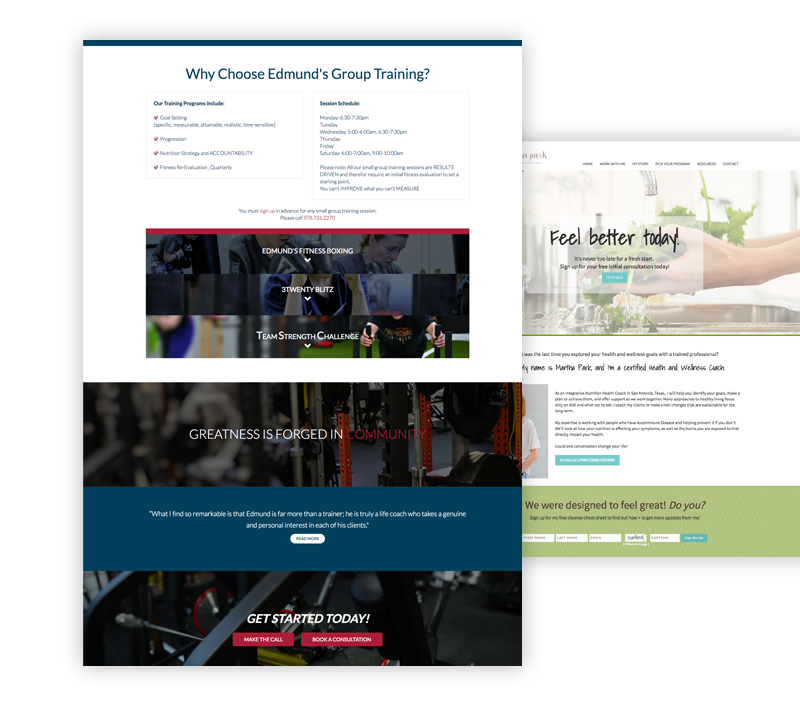 LiveEdit Website Examples