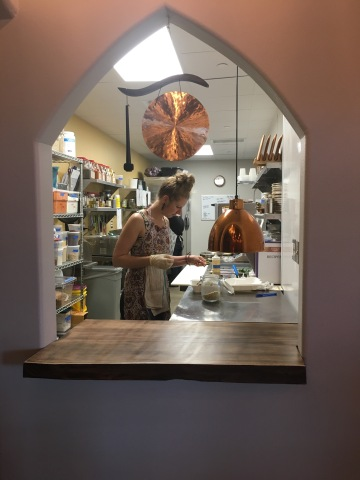 Chef Lauren in the Kitchen at Surya Cafe in Perennial Yoga