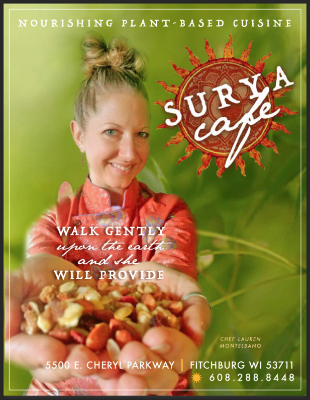Nourishing Plant Based Cuisine at Surya Cafe at Pernnial in Fitchburg, WI