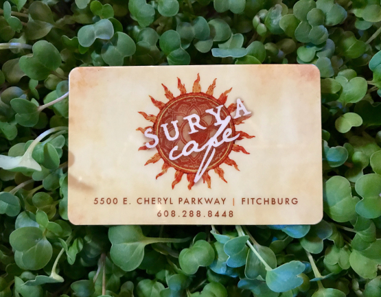 Surya Cafe Gift Card at Perennial in Fitchburg, WI