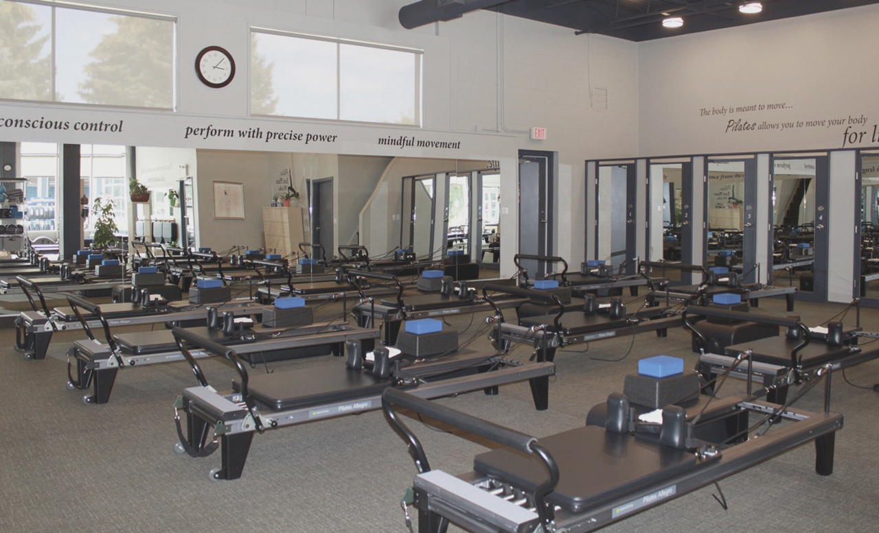 Reformers at Pilates Just Plane Works in Kitchener, ON