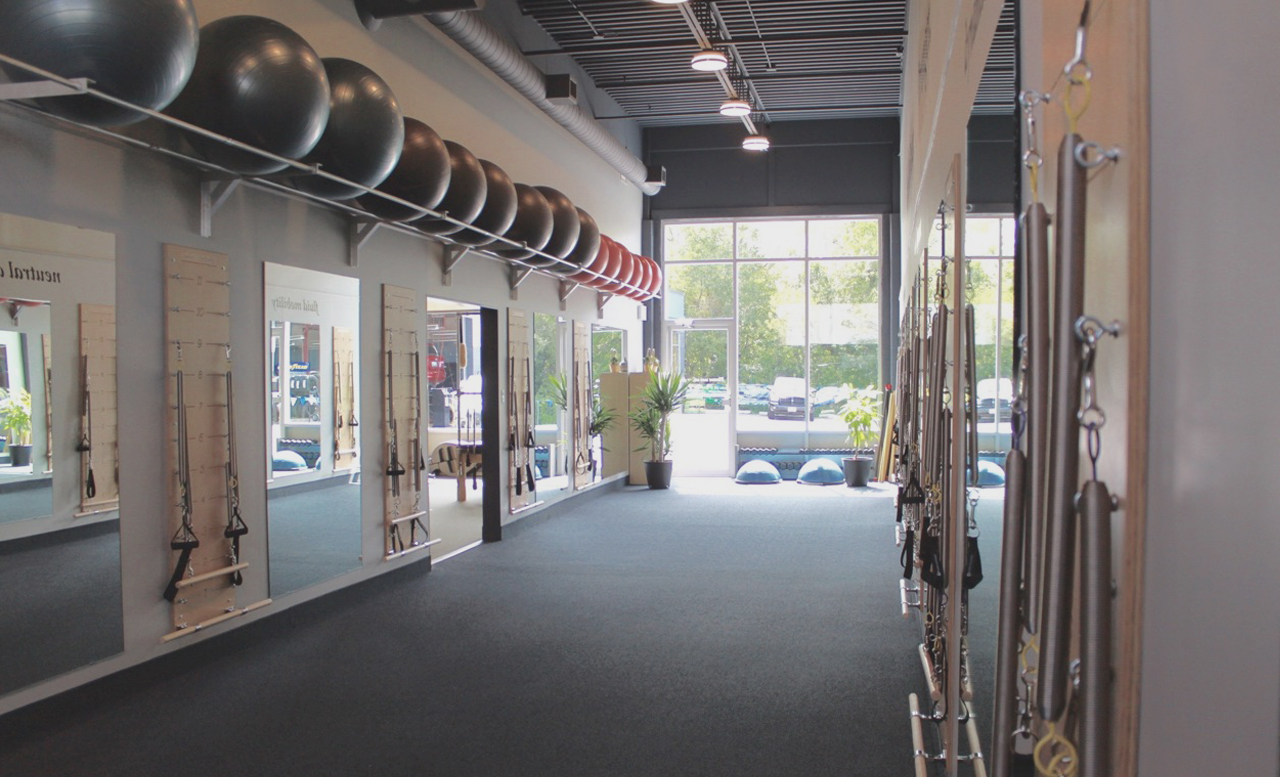 Inside Shot of the Springboard Studio at Pilates Just Plane Works in Kitchener, ON