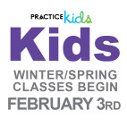 Kids Winter/Spring Classes Begin February 3rd