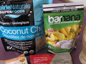 coconut chips and banana chips
