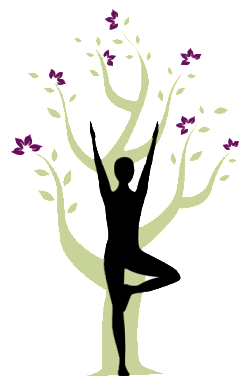 Woman Posing With Tree at Release Yoga