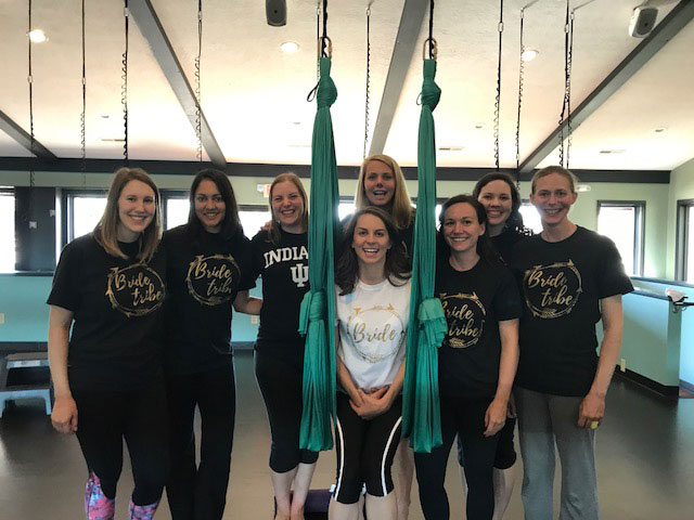Aerial Yoga Bachelorette Party at Release Yoga