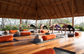 Yoga Class on the Costa Rica Yoga Retreat from Release Yoga