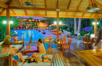 Dining Experience & Pool Area on the Costa Rica Yoga Retreat from Release Yoga