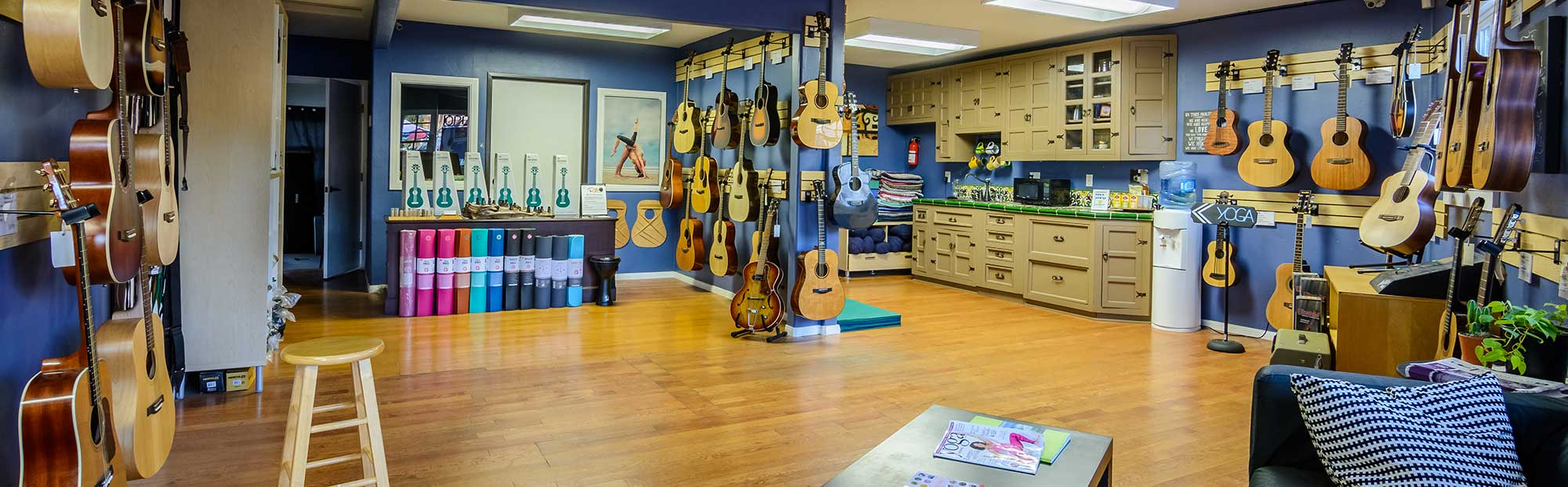 The Guitar Sales Floor at Riffs Studios in La Jolla, CA