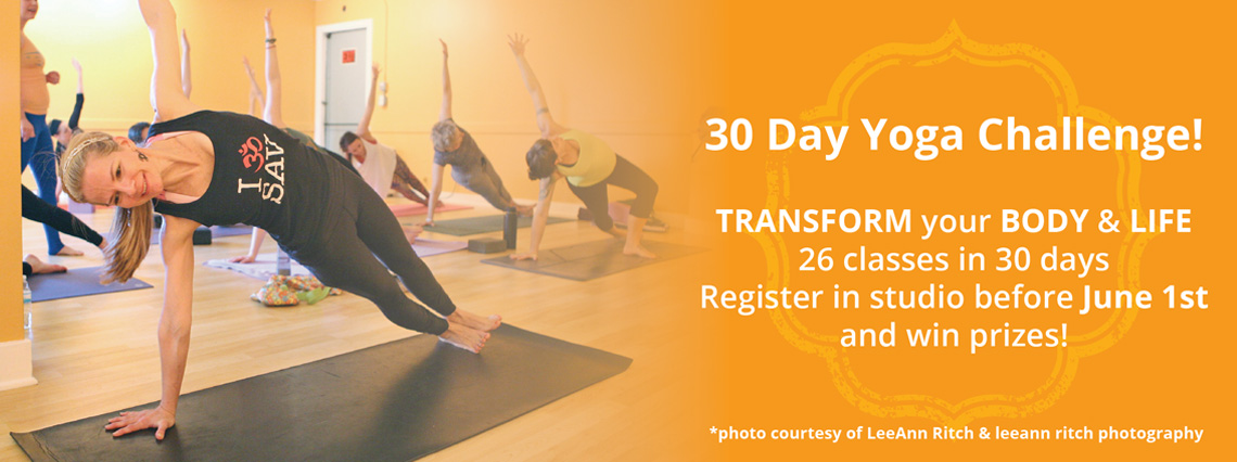30 Day Yoga Challenge | Savannah Yoga Center