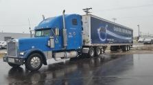 Blue Commercial delivery truck