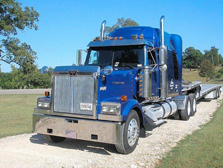 North Dakota Blue Semi truck