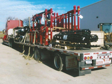 loaded commercial truck ready for delivery