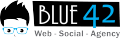 Blue42 Logo Horizontal - Black and Blue (1)