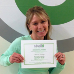 Lauren Valelly, Studio 6 Fitness Century Club Member
