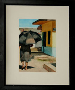"2nd Place-""Sun Umbrella""-Watercolor-Faythe Mills"
