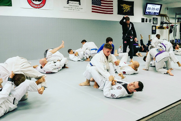 Jui Jitsu Class in Session