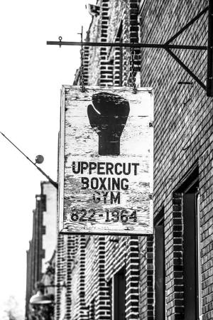 Sign for Uppercut Boxing Gym in Minneapolis