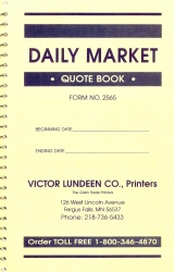 Daily Market Quote Book Cover