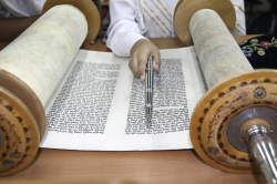 Reading Torah Scroll