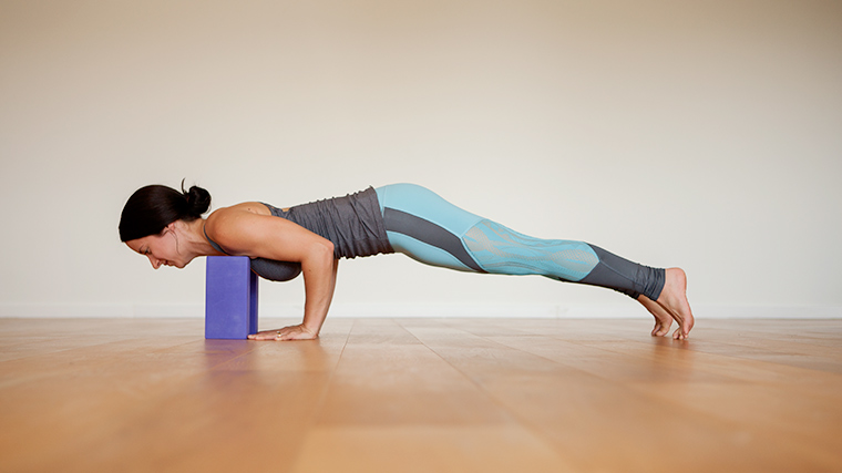 chaturanga with block