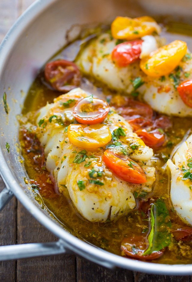 cod white wine tomato recipe