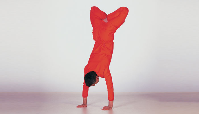 Legs Crossed Hand Stand