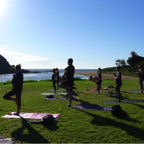 NY Retreat sunrise beach yoga - crop