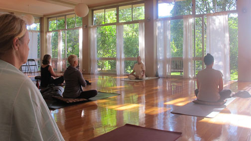 The hall: Yoga in Daily Life New Year Retreat