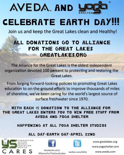 Yoga Shelter Cares Earth Day Event Poster